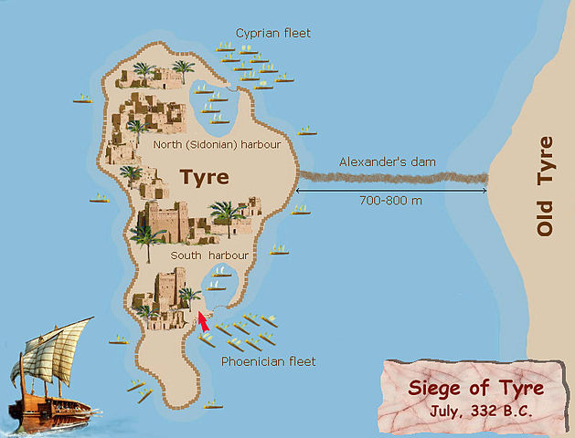 629px Siege of Tyre 332BC plan