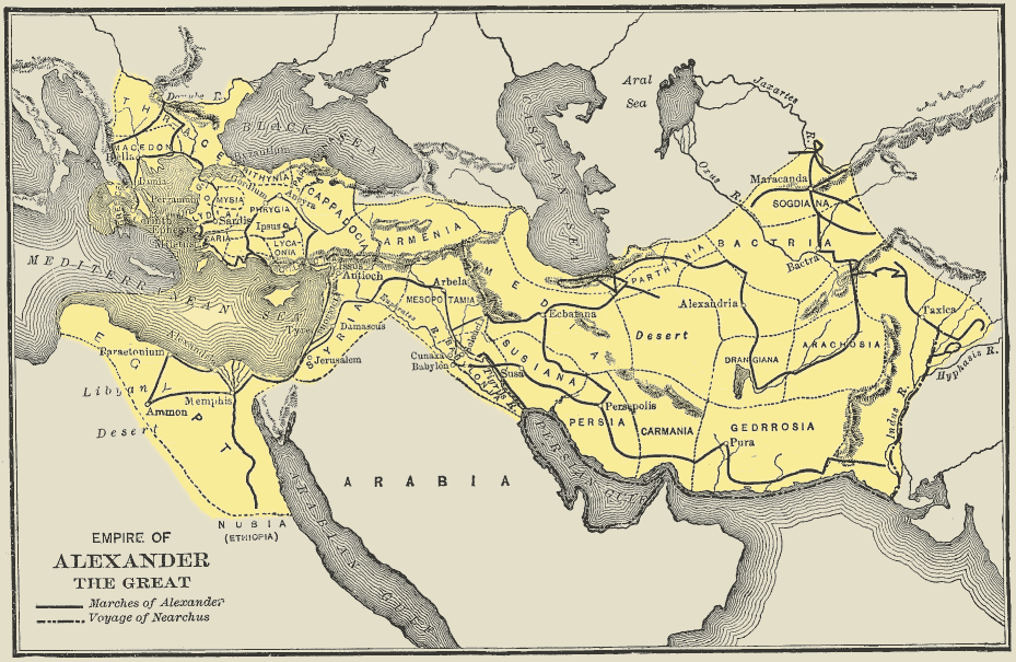 Map alexander empire