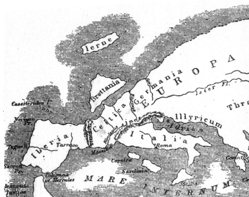Map of Europe according to Strabo