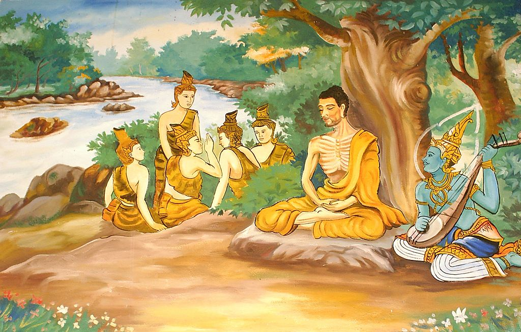 1024px Ascetic Bodhisatta Gotama with the Group of Five