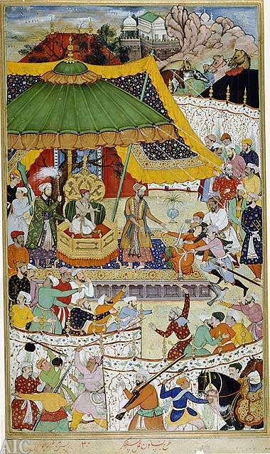 Court of Akbar from Akbarnama