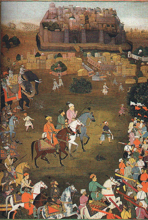 The capture of Orchha by imperial forces October 1635