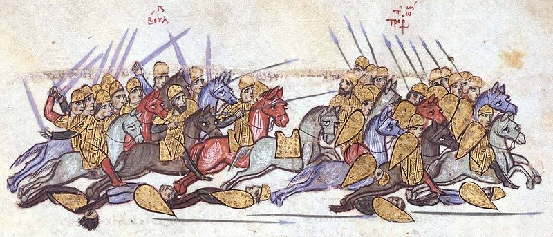 800px Bulgarians defeat the Byzantines at Anchialos