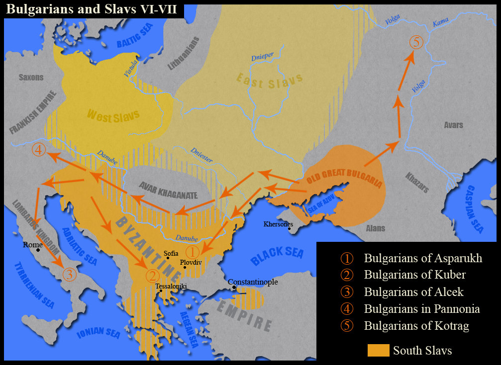 Bulgarians and Slavs VI VII century