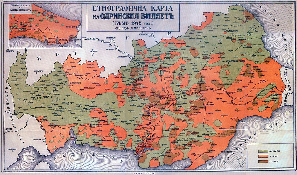 1024px Ethnographic map Thrace 1912