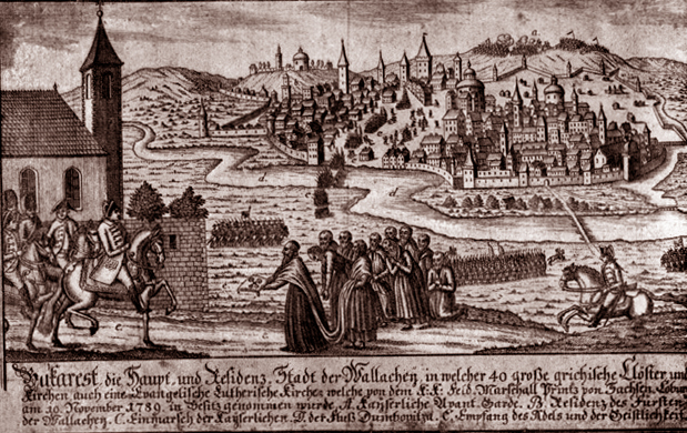 Bucharest 1789 woodcut