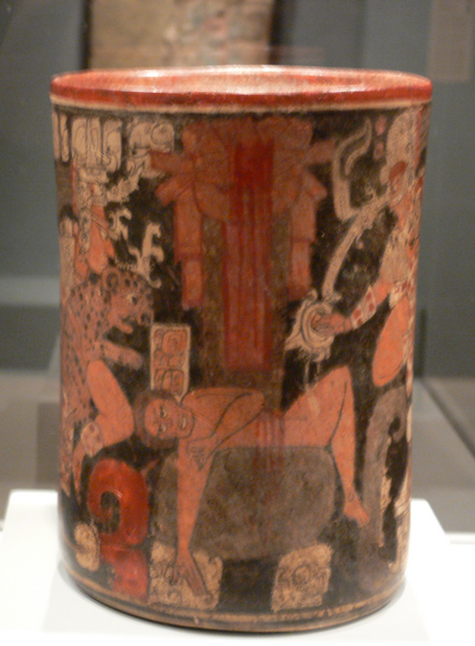 Maya vessel with sacrificial scene DMA 2005 26