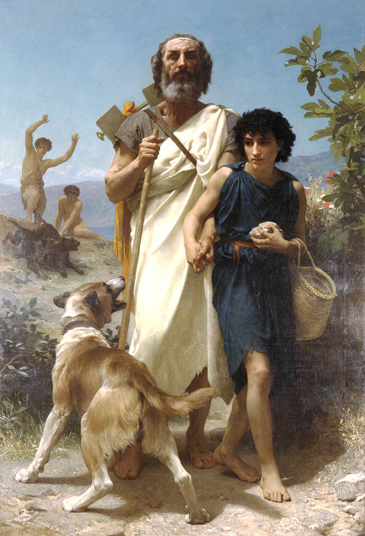 524px William Adolphe Bouguereau 1825 1905 Homer and his Guide 1874