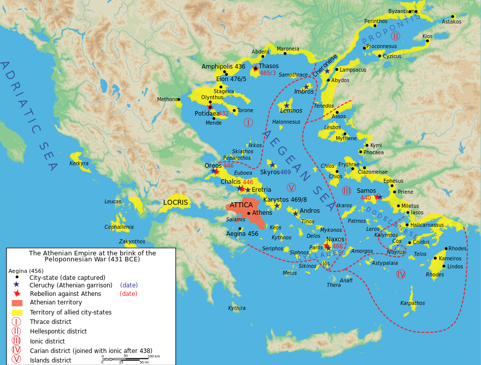 Map athenian empire 431 BC en