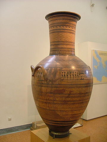 NAMA Atticc grave amphora by Dipylon Painter