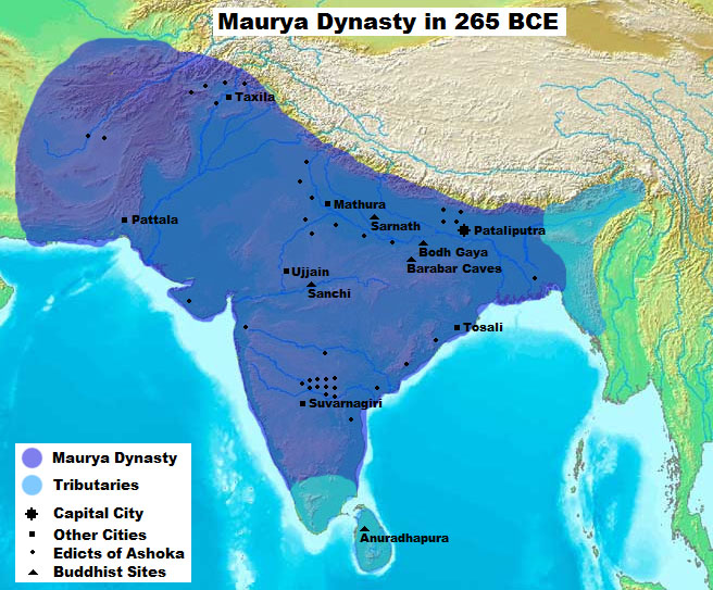 Maurya Dynasty in 265 BCE