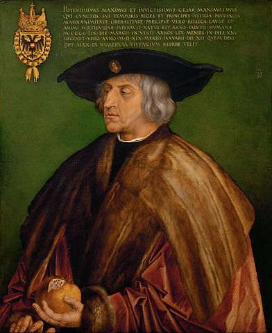 Albrecht Drer Portrait of Maximilian I Google Art Project