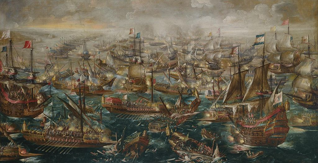 The Battle of Lepanto painting by Andries van Eertvelt