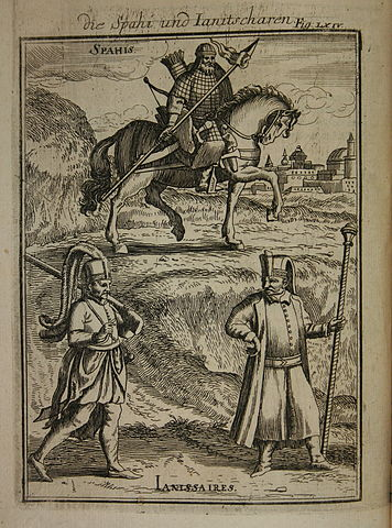 356px View of Turkish soldiers Description de LUniverse Alain Manesson Mallet 1685