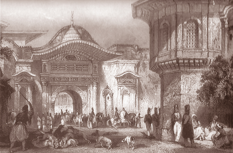 Thomas allom c1840 The Enterance to Divan
