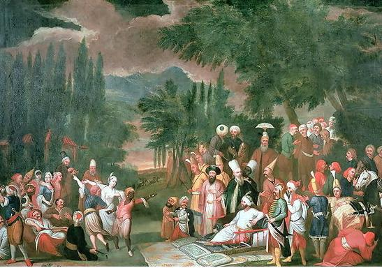 Hunting Party with the Sultan Jean Baptiste Vanmour 18th century