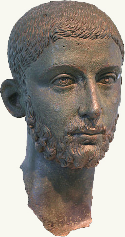 255px Head from a Bronze Statue of the Roman Emperor Alexander Severus