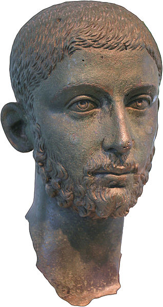 318px Head from a Bronze Statue of the Roman Emperor Alexander Severus