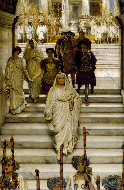 501px Sir Lawrence Alma Tadema RA OM The Triumph of Titus The Flavians Walters 3731