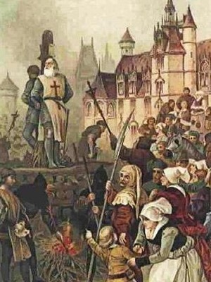 Knights Templar burning of Molay
