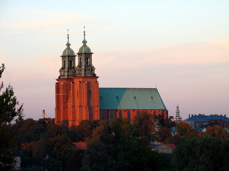 Gniezno. View of metropolitan cathedral and church of St John the Baptist