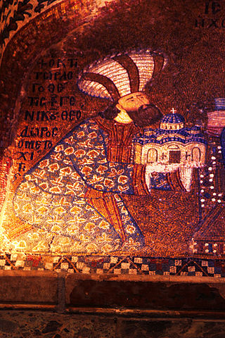 320px Theodore Metochites in the Dedication Mosaic at Chora Church
