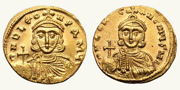 Solidus Leo III and Constantine V sb1504