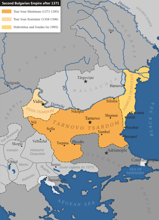 Second Bulgarian Empire after 1371